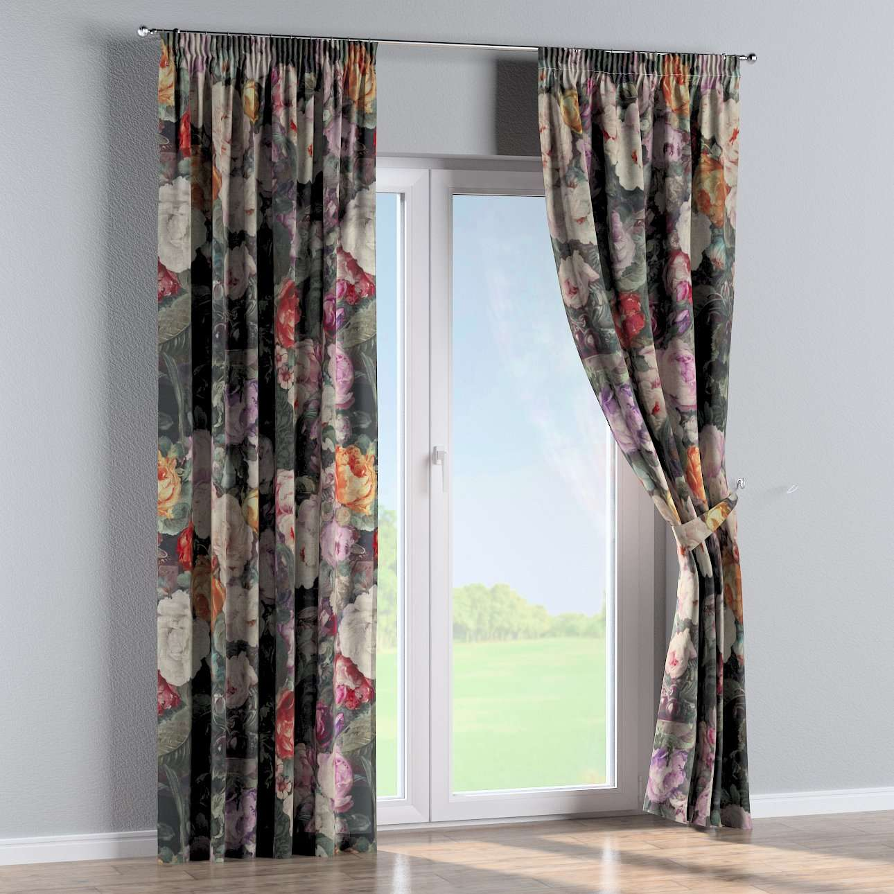 Pencil pleat curtains in collection Linen, fabric: 142-26