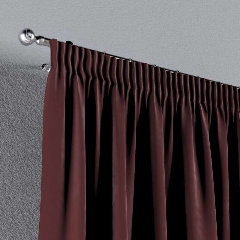 Pencil pleat curtains in collection Velvet, fabric: 704-26