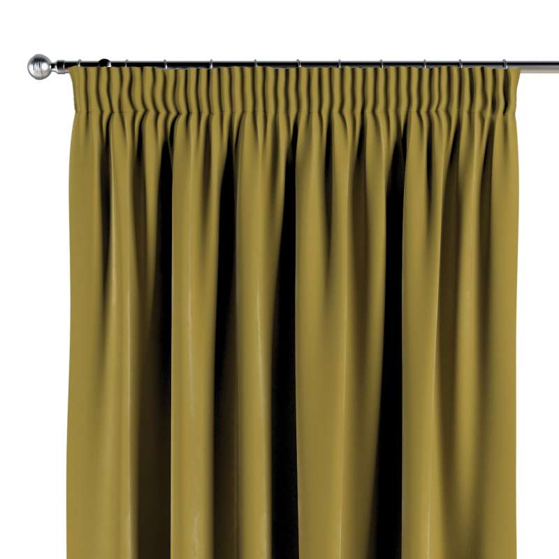 Pencil pleat curtain in collection Velvet, fabric: 704-27