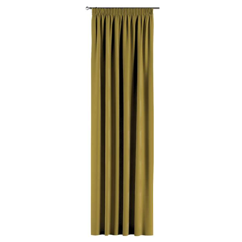 Gardin med rynkband 1 längd i kollektionen Velvet, Tyg: 704-27