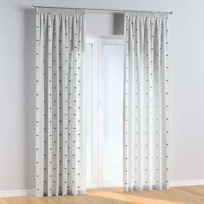 Vorhang mit Kräuselband 1 Stck. 500-06 ecru- schwarz Kollektion Magic Collection