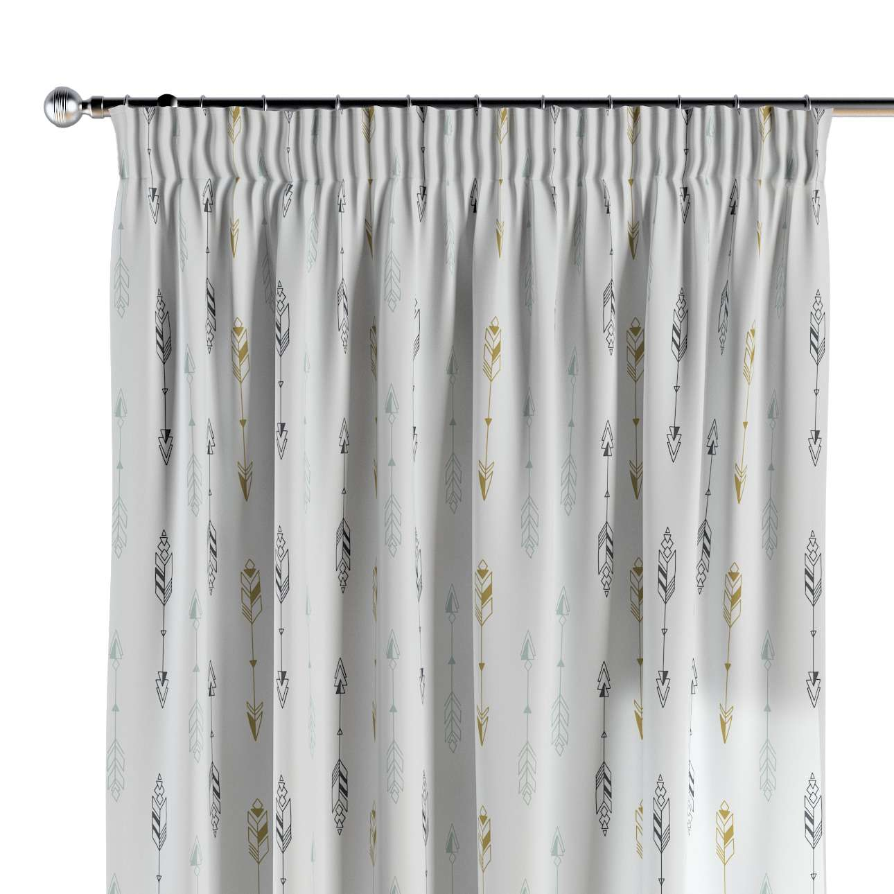 Pencil pleat curtains in collection Magic Collection, fabric: 500-07