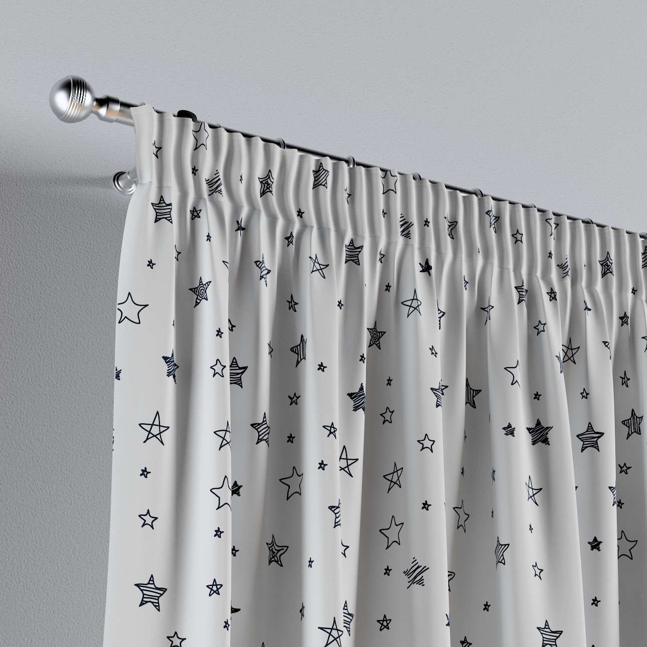 Pencil pleat curtains in collection Magic Collection, fabric: 500-08