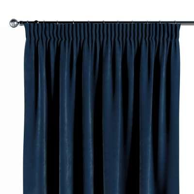 Gardin med rynkebånd 1 stk. 704-29 Mørkeblå Kolleksjon Velvet