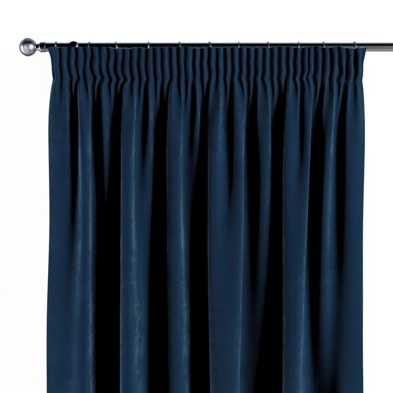 Pencil pleat curtain in collection Velvet, fabric: 704-29