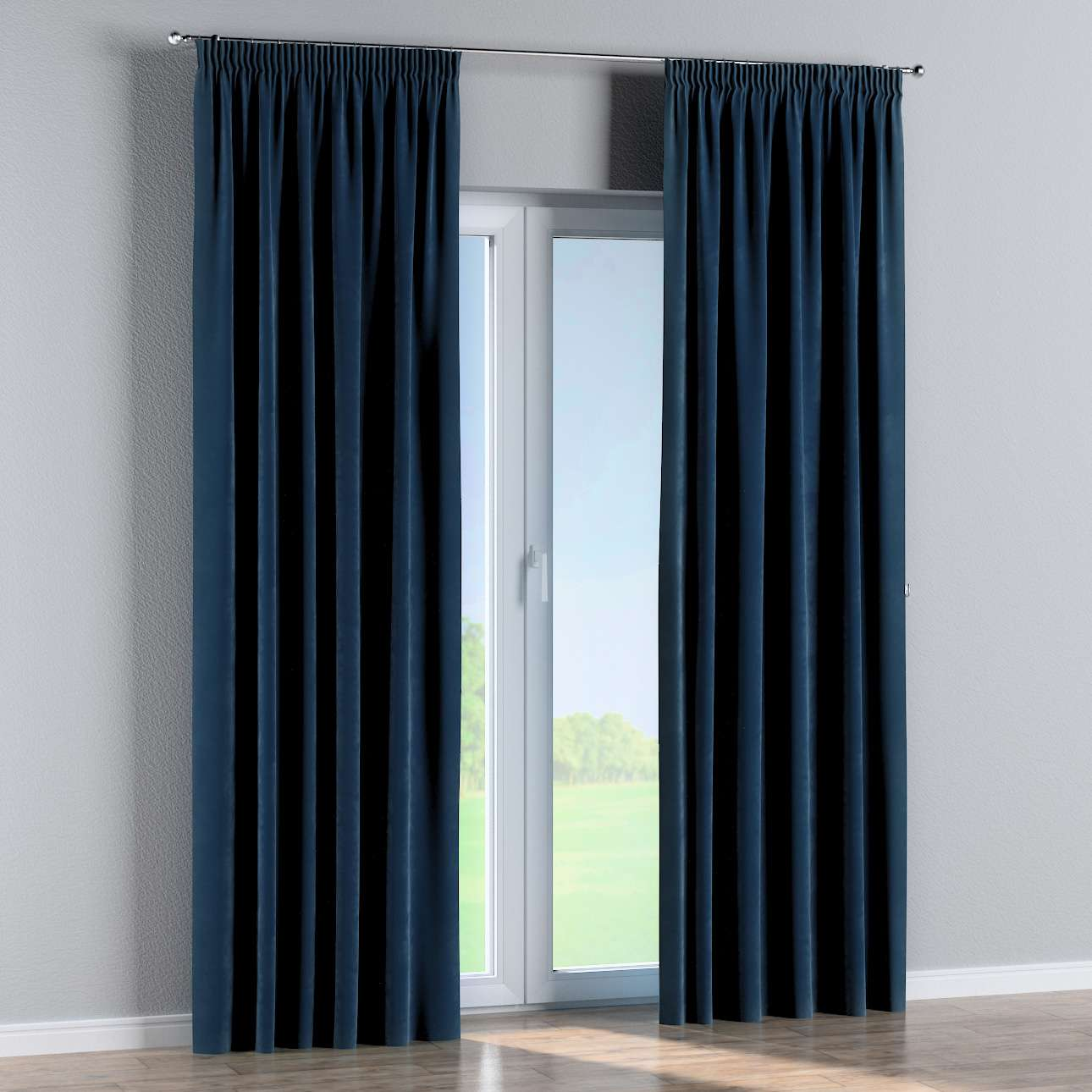 Pencil pleat curtains in collection Velvet, fabric: 704-29