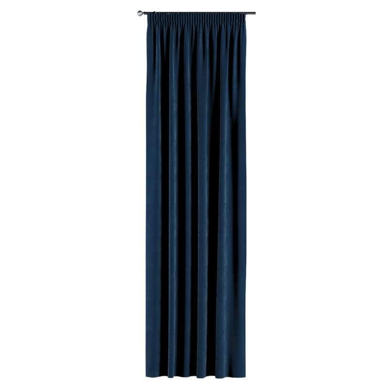 Gardin med rynkband 1 längd i kollektionen Velvet, Tyg: 704-29