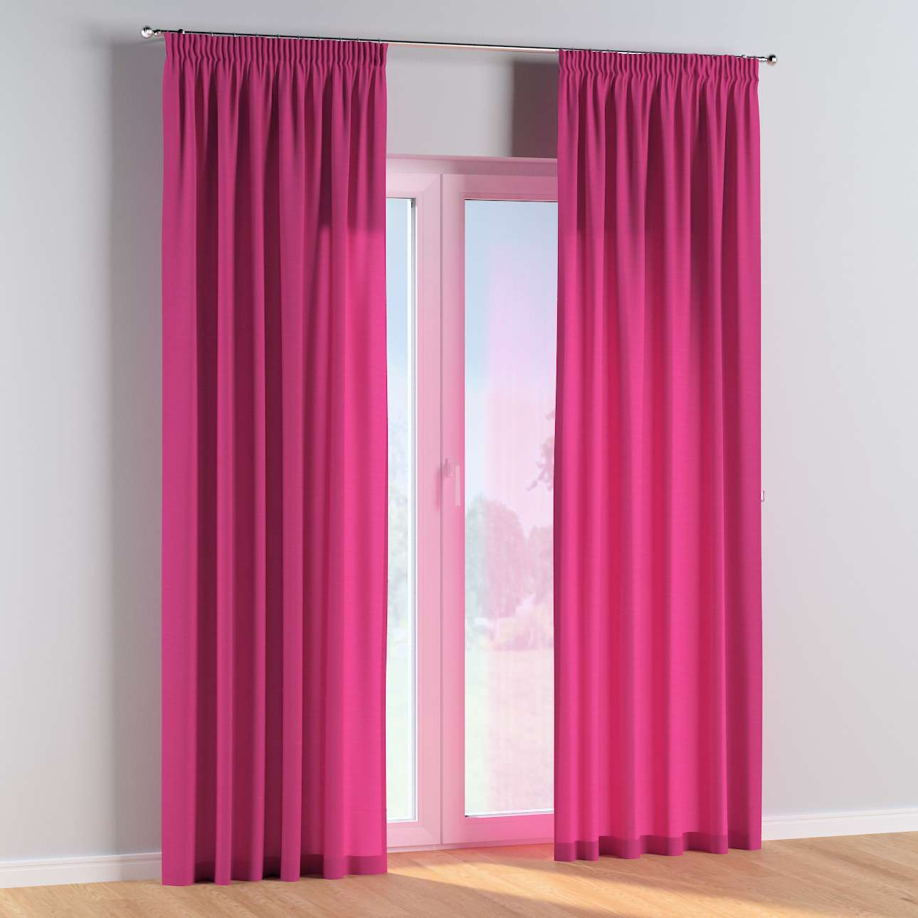 Pencil pleat curtains in collection Happiness, fabric: 133-60