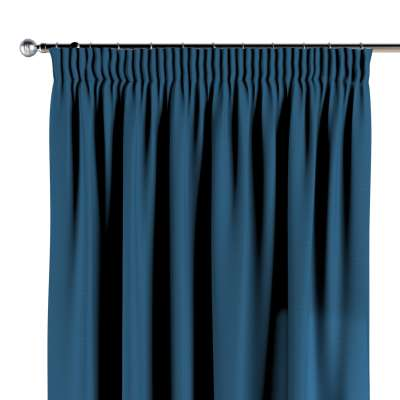 Pencil pleat curtains 702-30 dark blue Collection Cotton Story