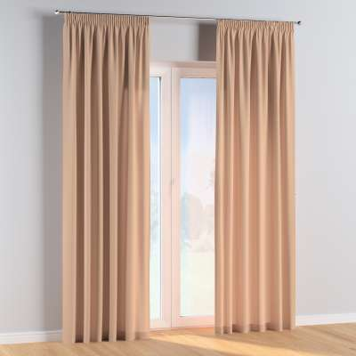 Pencil pleat curtains in collection Cotton Story, fabric: 702-01