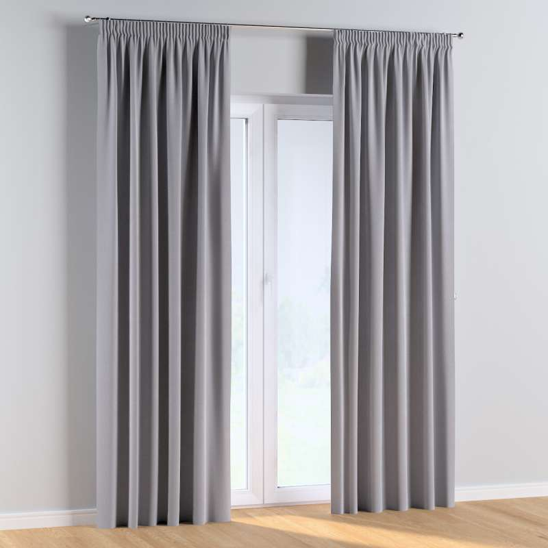 Pencil pleat curtains in collection Posh Velvet, fabric: 704-24