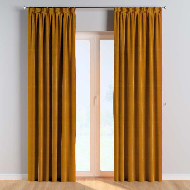 Pencil pleat curtains in collection Posh Velvet, fabric: 704-23