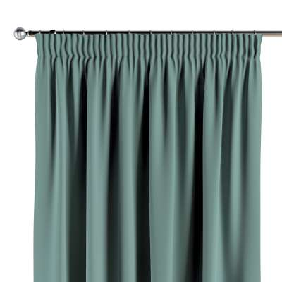 Pencil pleat curtains 704-18 dusty mint green Collection Posh Velvet