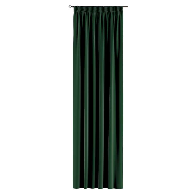 Pencil pleat curtains in collection Posh Velvet, fabric: 704-13