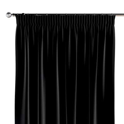 Vorhang mit Kräuselband 1 Stck. 704-17 schwarz Kollektion Posh Velvet