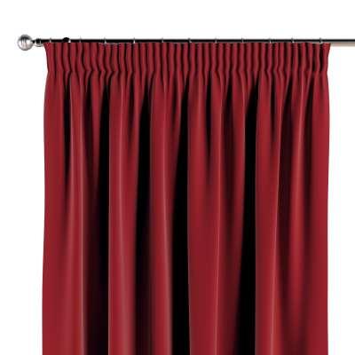 Závěs na řasící pásce 1 ks 704-15 intenzivní červená Kolekce Posh Velvet