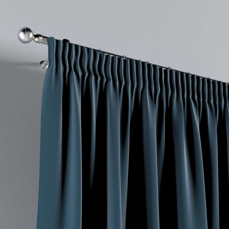 Pencil pleat curtains in collection Posh Velvet, fabric: 704-16