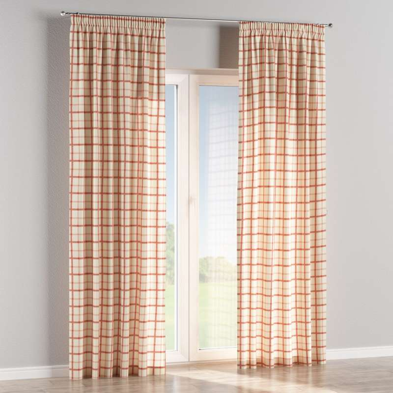 Pencil pleat curtain in collection Avinon, fabric: 131-15