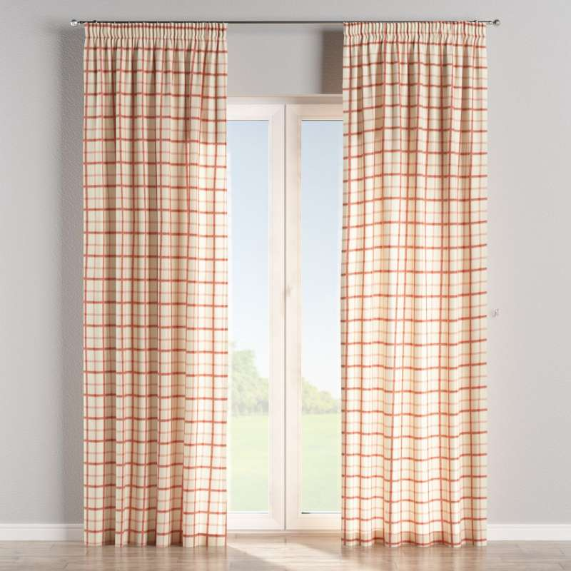 Pencil pleat curtain in collection Avinon, fabric: 131-15