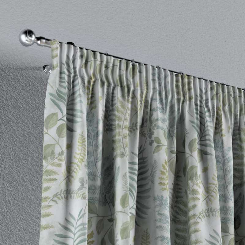 Pencil pleat curtains in collection Pastel Forest, fabric: 142-46
