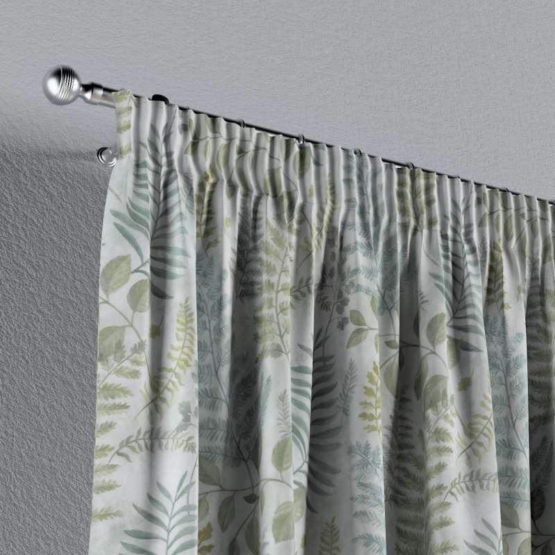 Vorhang mit Kräuselband von der Kollektion Pastel Forest, Stoff: 142-46