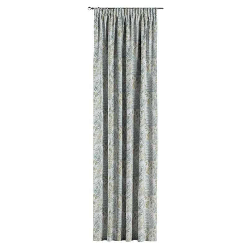 Gardin med rynkband 1 längd i kollektionen Pastel Forest, Tyg: 142-46