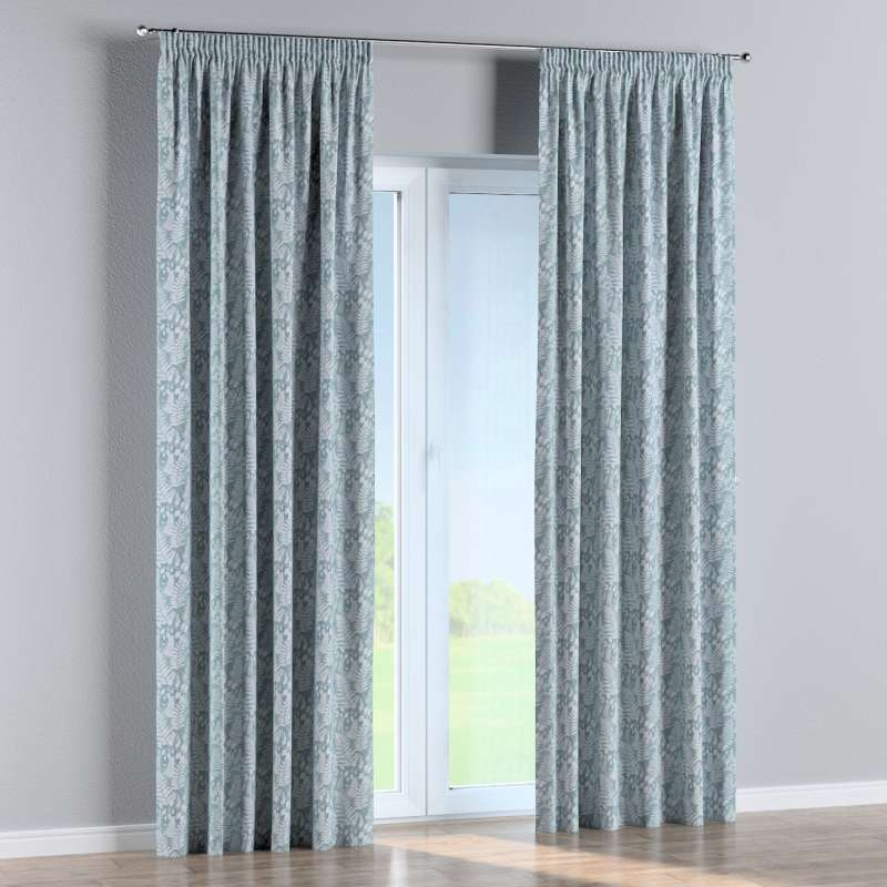 Pencil pleat curtain in collection Pastel Forest, fabric: 142-47