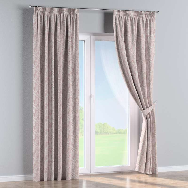 Pencil pleat curtain in collection Pastel Forest, fabric: 142-48