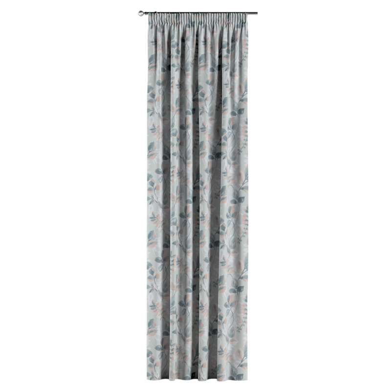 Pencil pleat curtain in collection Pastel Forest, fabric: 142-52