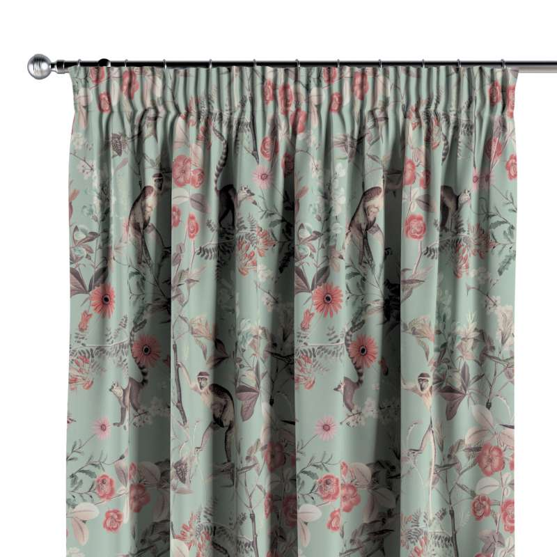 Pencil pleat curtain in collection Tropical Island, fabric: 142-62