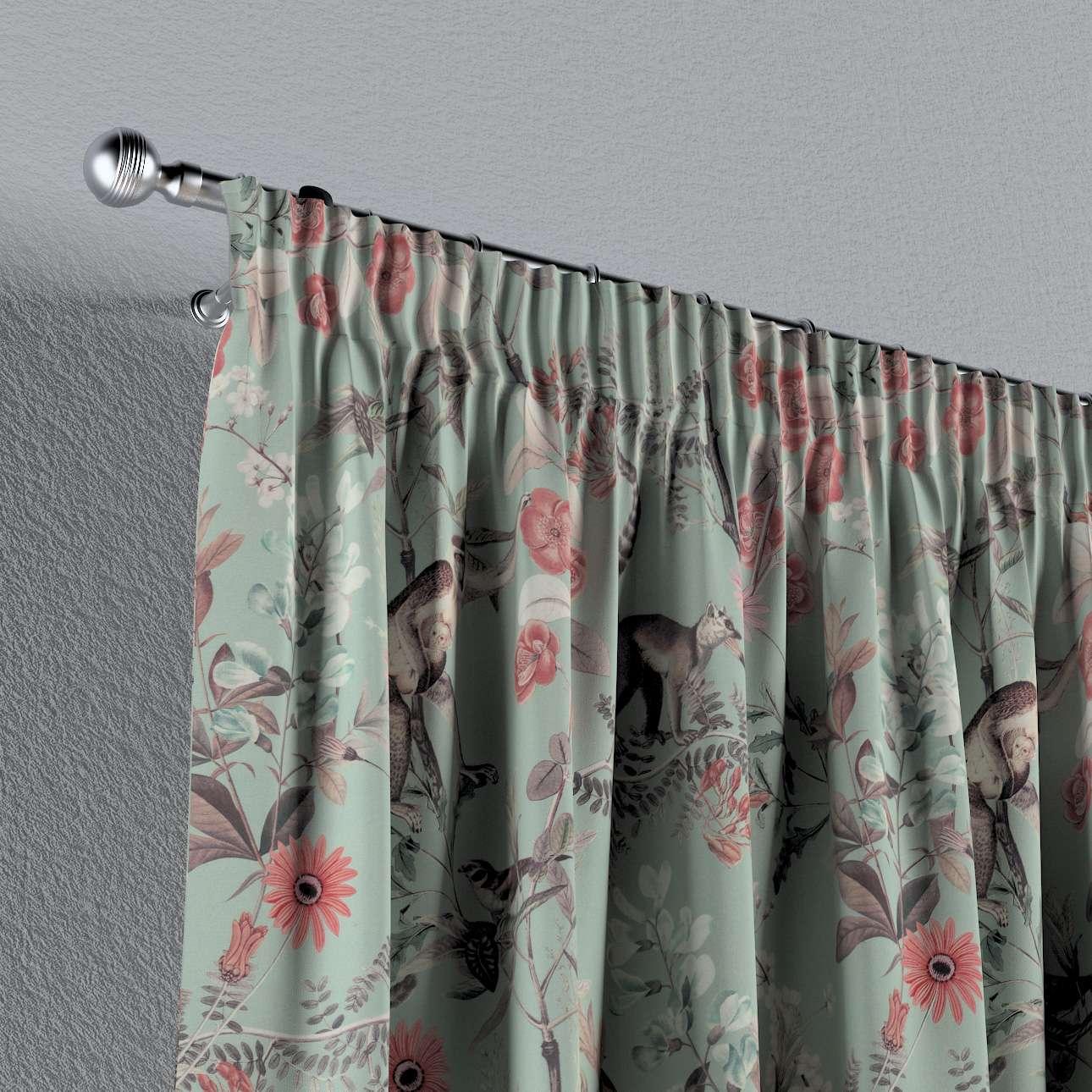 Záves na riasiacej páske V kolekcii Tropical Island, tkanina: 142-62