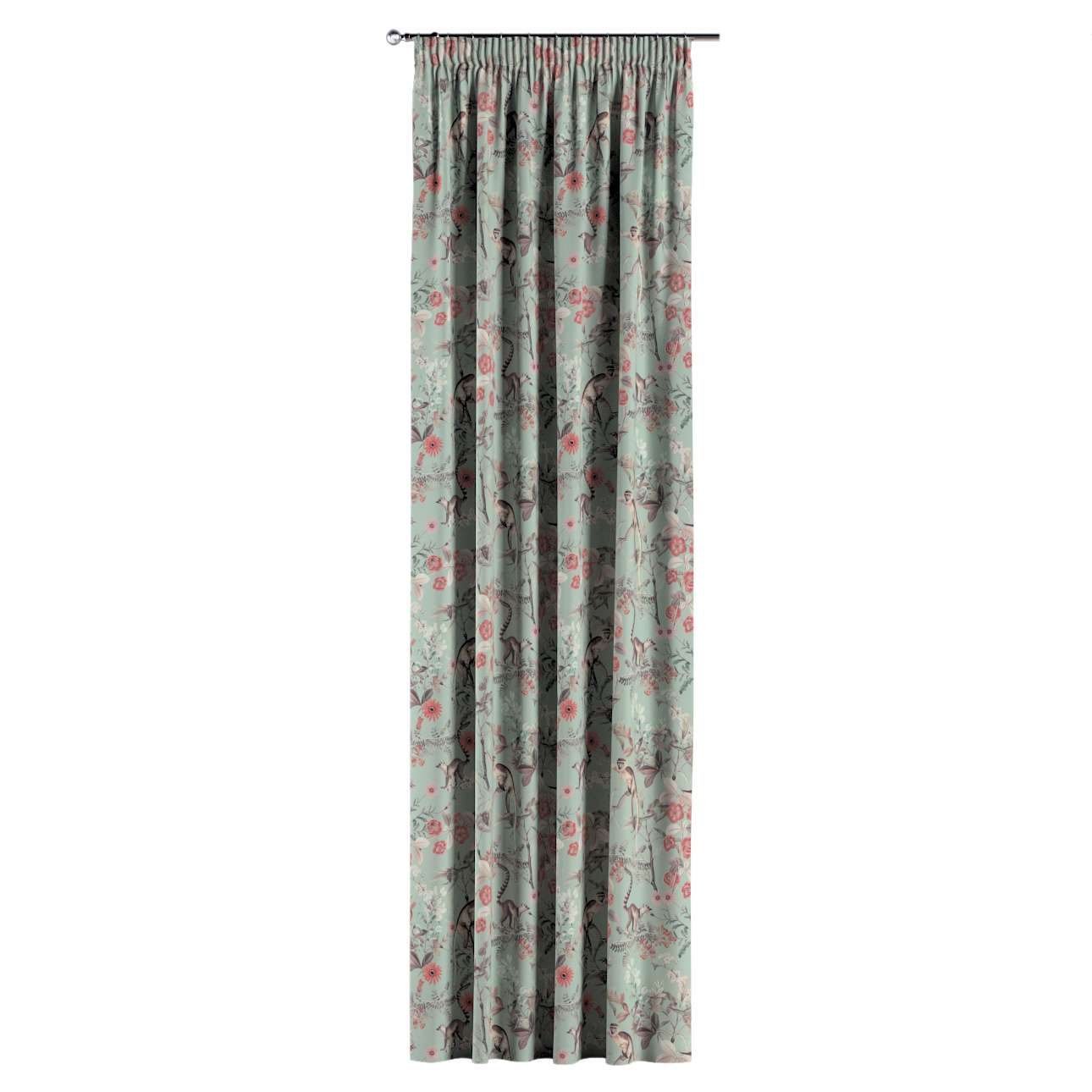 Pencil pleat curtains in collection Tropical Island, fabric: 142-62