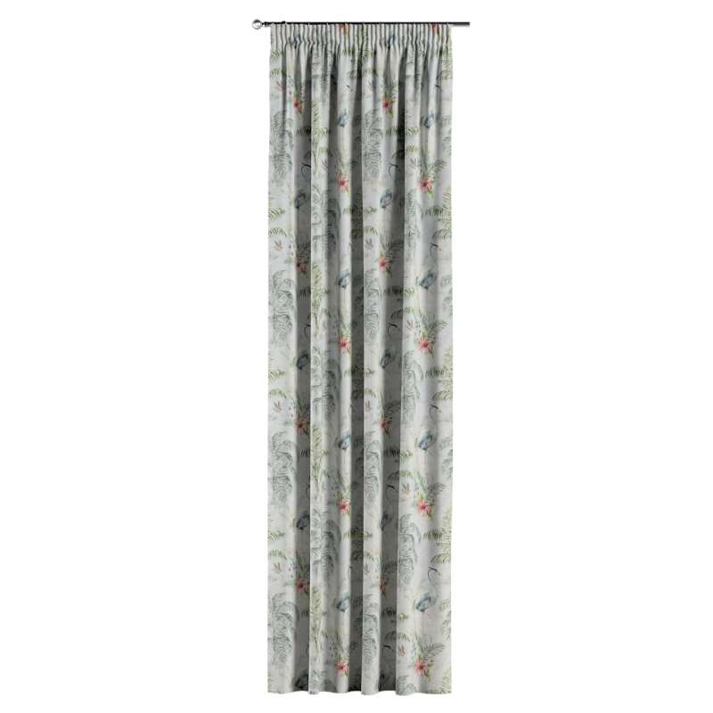Pencil pleat curtain in collection Tropical Island, fabric: 142-58