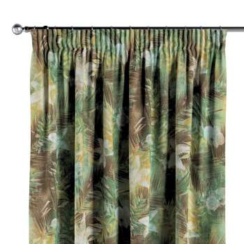 Pencil pleat curtains in collection Tropical Island, fabric: 142-41