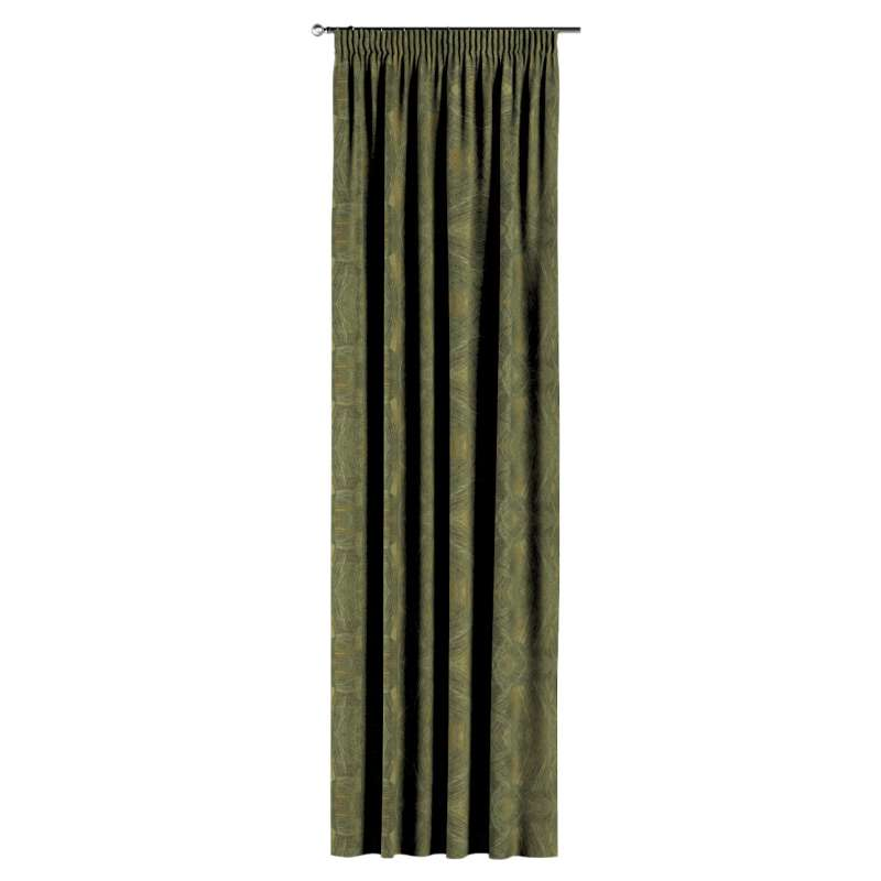 Pencil pleat curtain in collection Tropical Island, fabric: 142-63