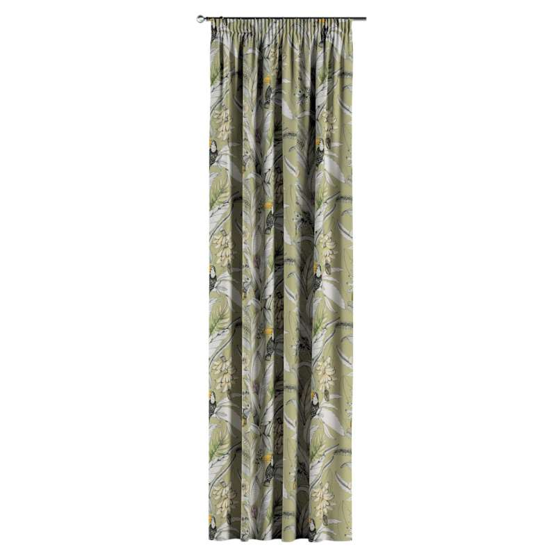 Pencil pleat curtain in collection Tropical Island, fabric: 142-65