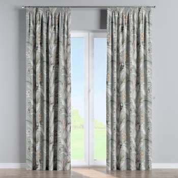 Pencil pleat curtains in collection Tropical Island, fabric: 142-64