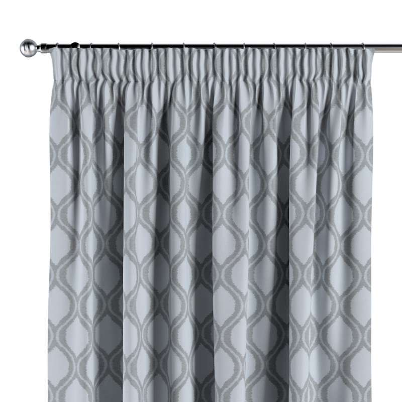 Pencil pleat curtain in collection Damasco, fabric: 142-54