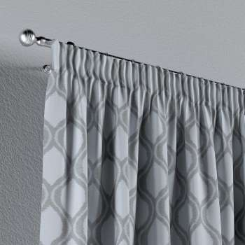 Pencil pleat curtains in collection Damasco, fabric: 142-54