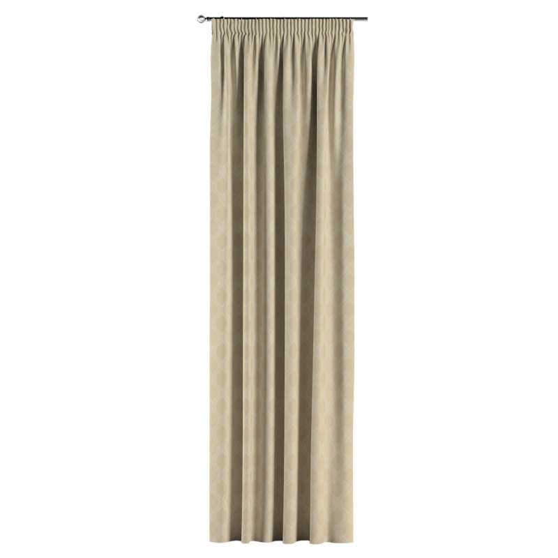Pencil pleat curtains in collection Damasco, fabric: 142-53