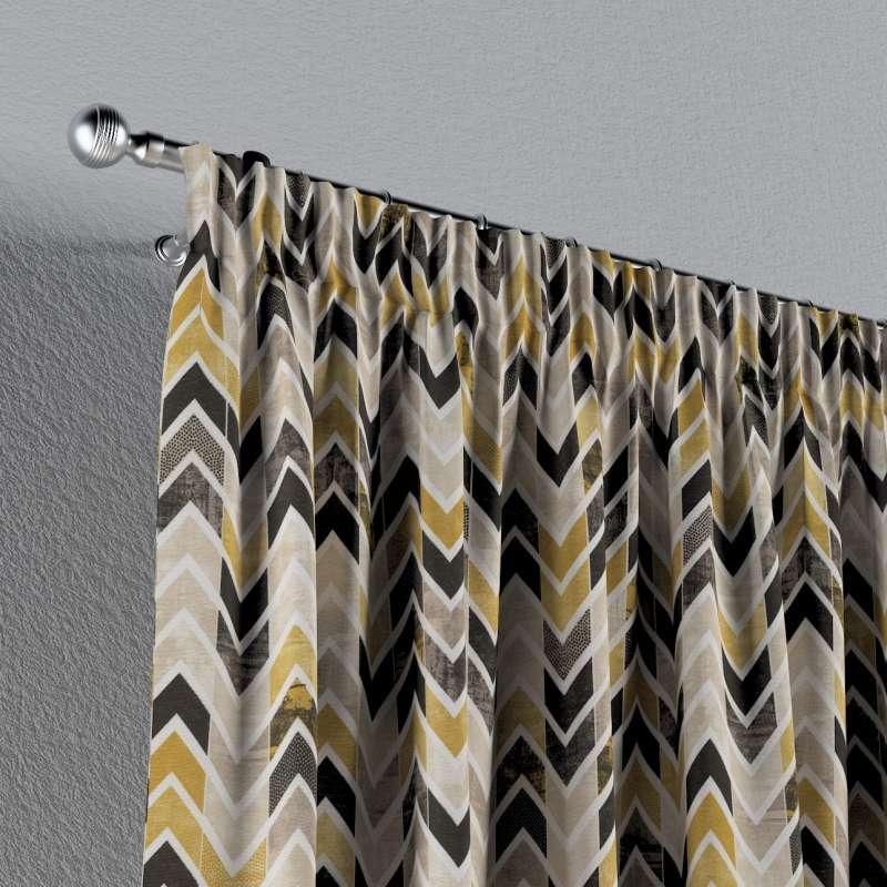 Gardin med rynkband 1 längd i kollektionen Modern, Tyg: 142-79