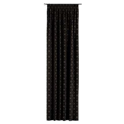 Gardin med rynkebånd 1 stk. fra kolleksjonen Black & White, Stoffets bredde: 142-55