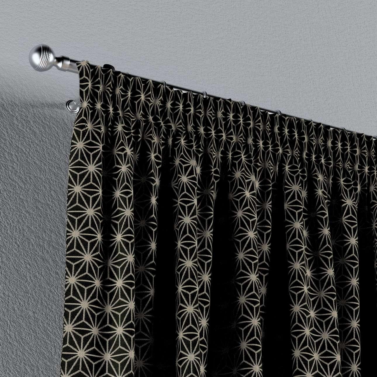 Záves na riasiacej páske V kolekcii Black & White, tkanina: 142-56