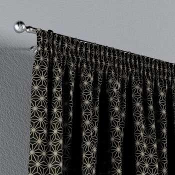 Zasłona na taśmie marszczącej 1 szt. w kolekcji Black & White, tkanina: 142-56