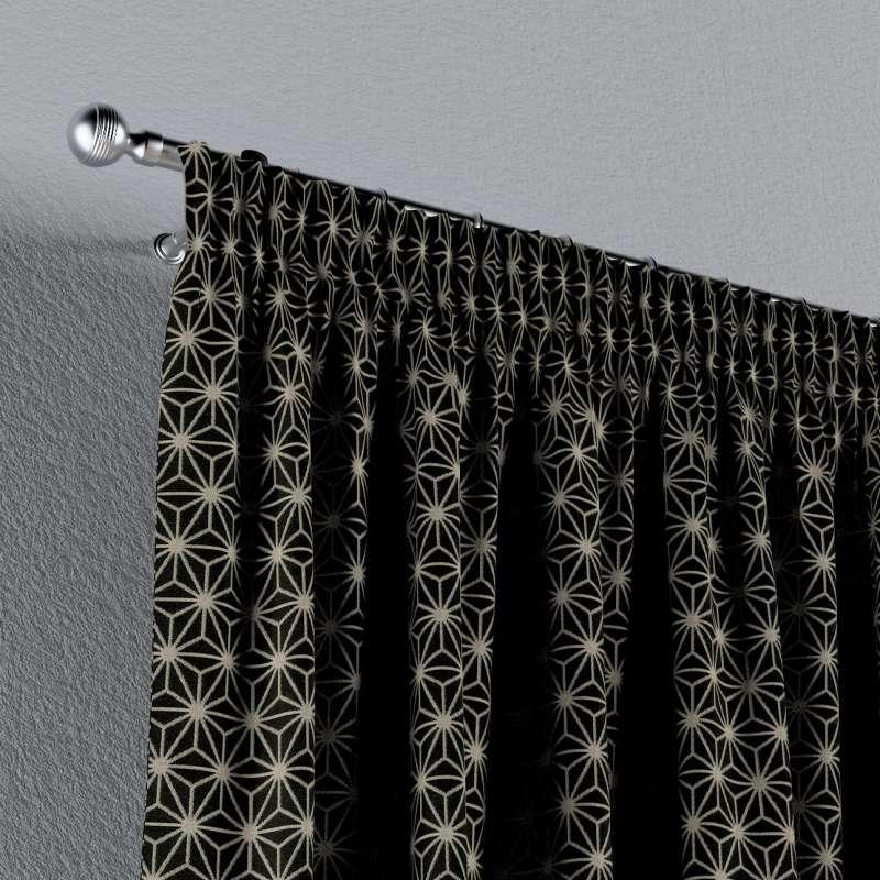 Függöny ráncolóval a kollekcióból Black & White szövet, Dekoranyag: 142-56