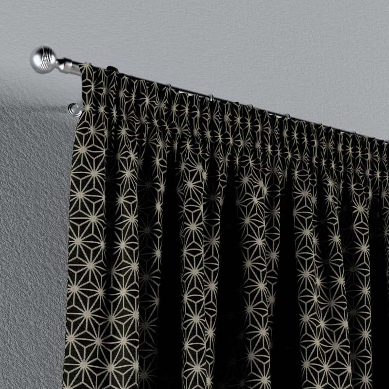 Gardin med rynkebånd 1 stk. fra kolleksjonen Black & White, Stoffets bredde: 142-56