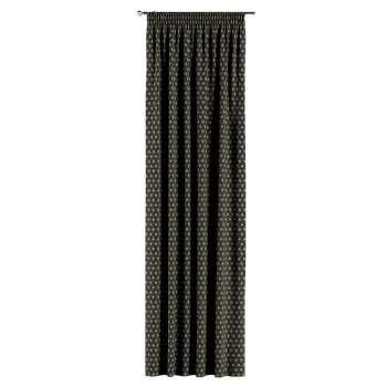 Závěs s řasící páskou v kolekci Black & White, látka: 142-56