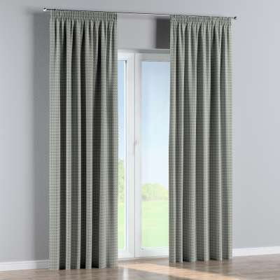Pencil pleat curtains in collection Black & White, fabric: 142-76