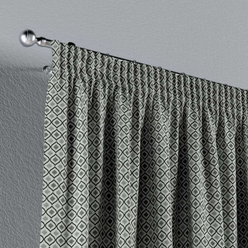 Pencil pleat curtain in collection Black & White, fabric: 142-76