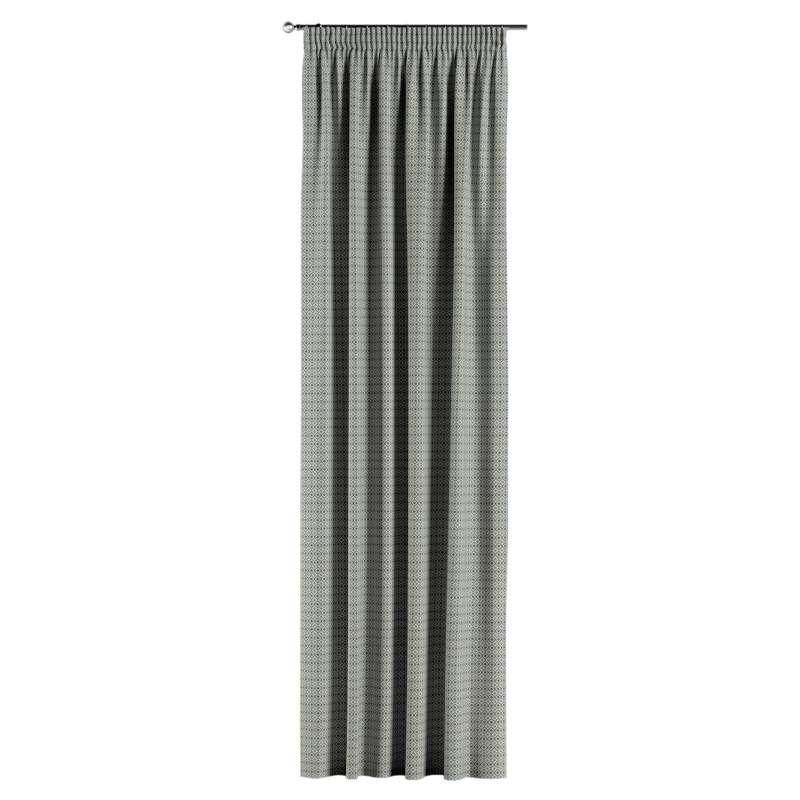 Záves na riasiacej páske V kolekcii Black & White, tkanina: 142-76